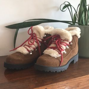 J. Crew Factory Faux Fur Lined Microsuede Boots